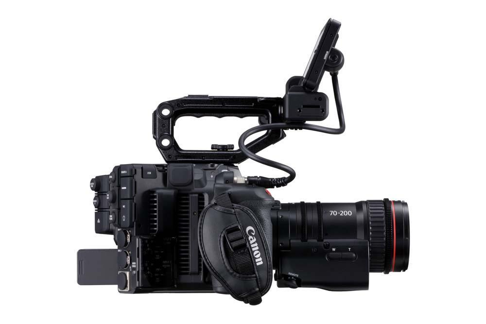 EOS C500 Mark II WITH FULL KIT EU-V1 AND CN-E70-200 LEFT SIDE