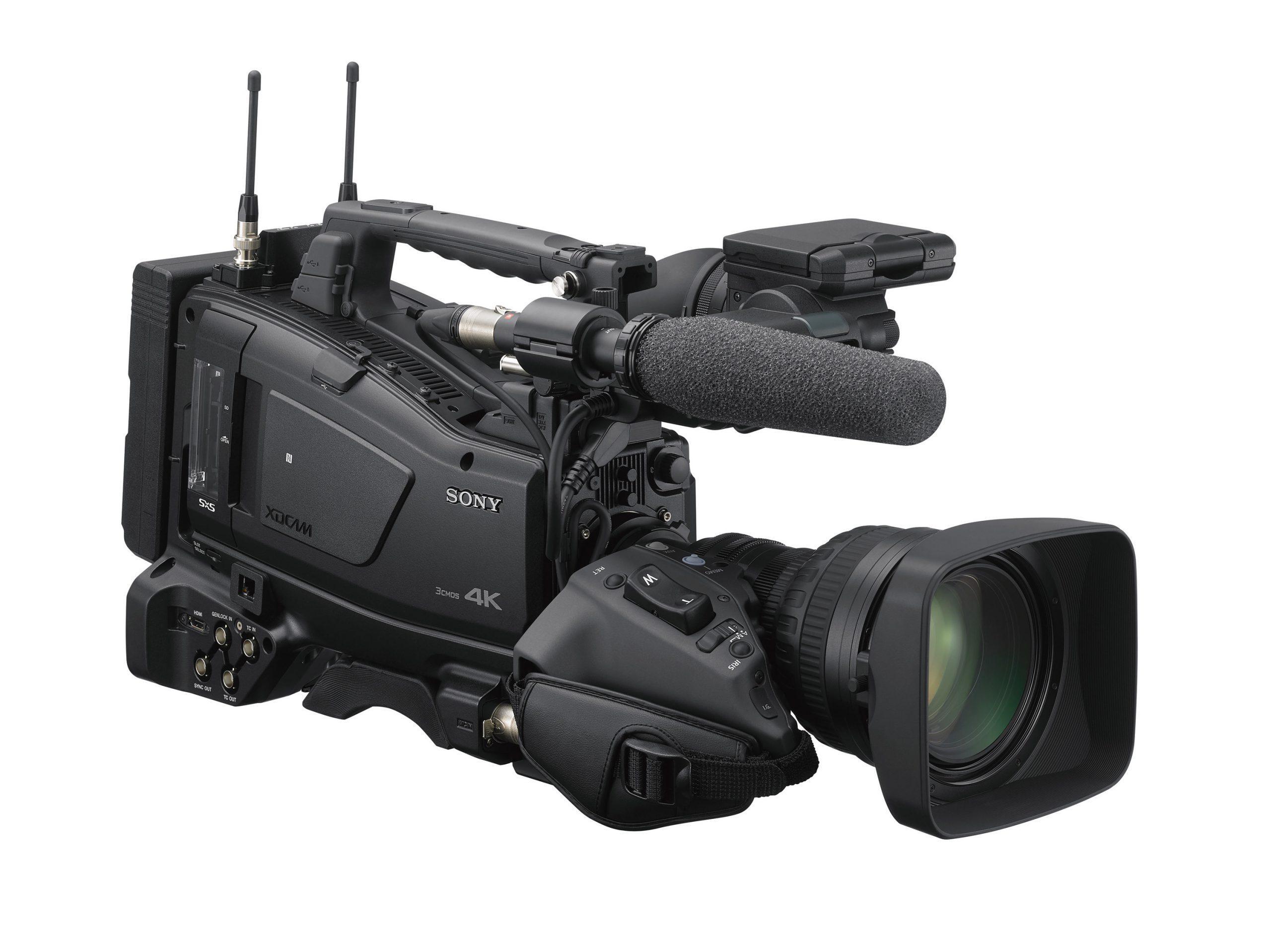 PXW-Z750 Frontal Vista Derecha