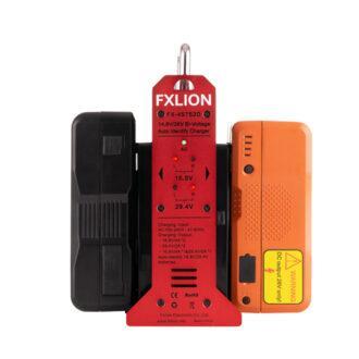 Cargador baterías bi-voltaje FXLion X-4S7S2D - Con dos baterias