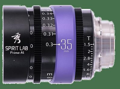 Spirit Lab Prime Series Al 35mm - Vista detalle volteada