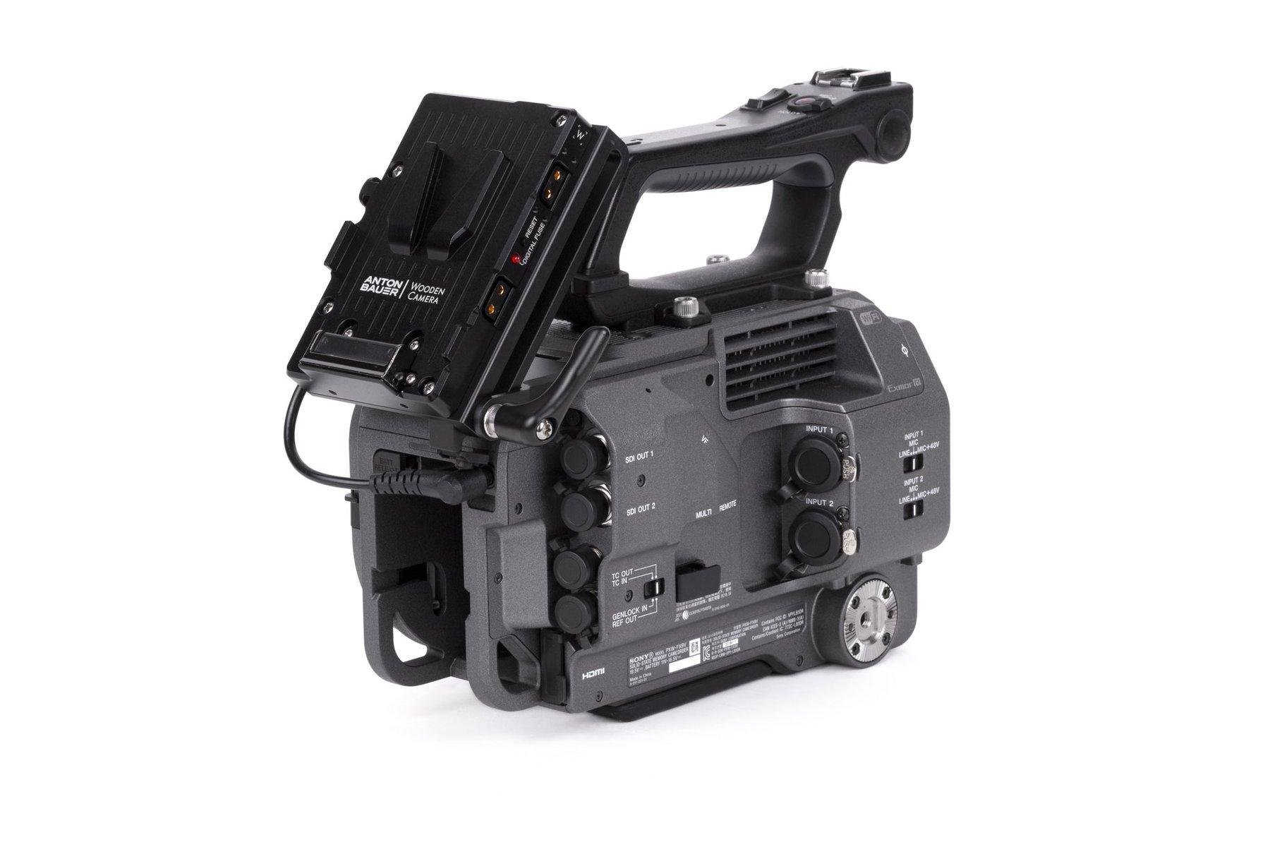 Adaptador V-Mount Sony FX9 – Montado en Camara y desplegado