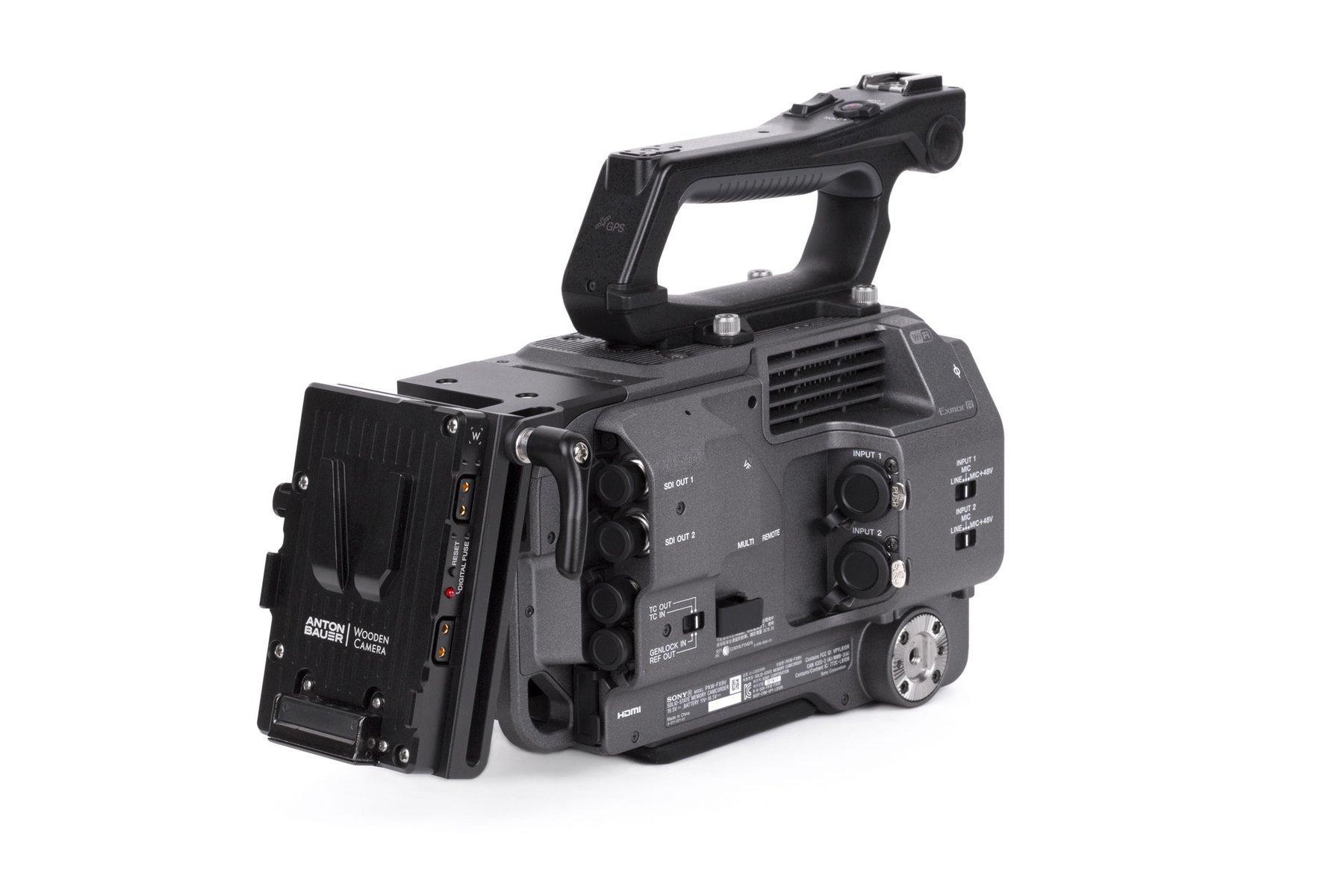 Adaptador V-Mount Sony FX9 – Montado en Camara