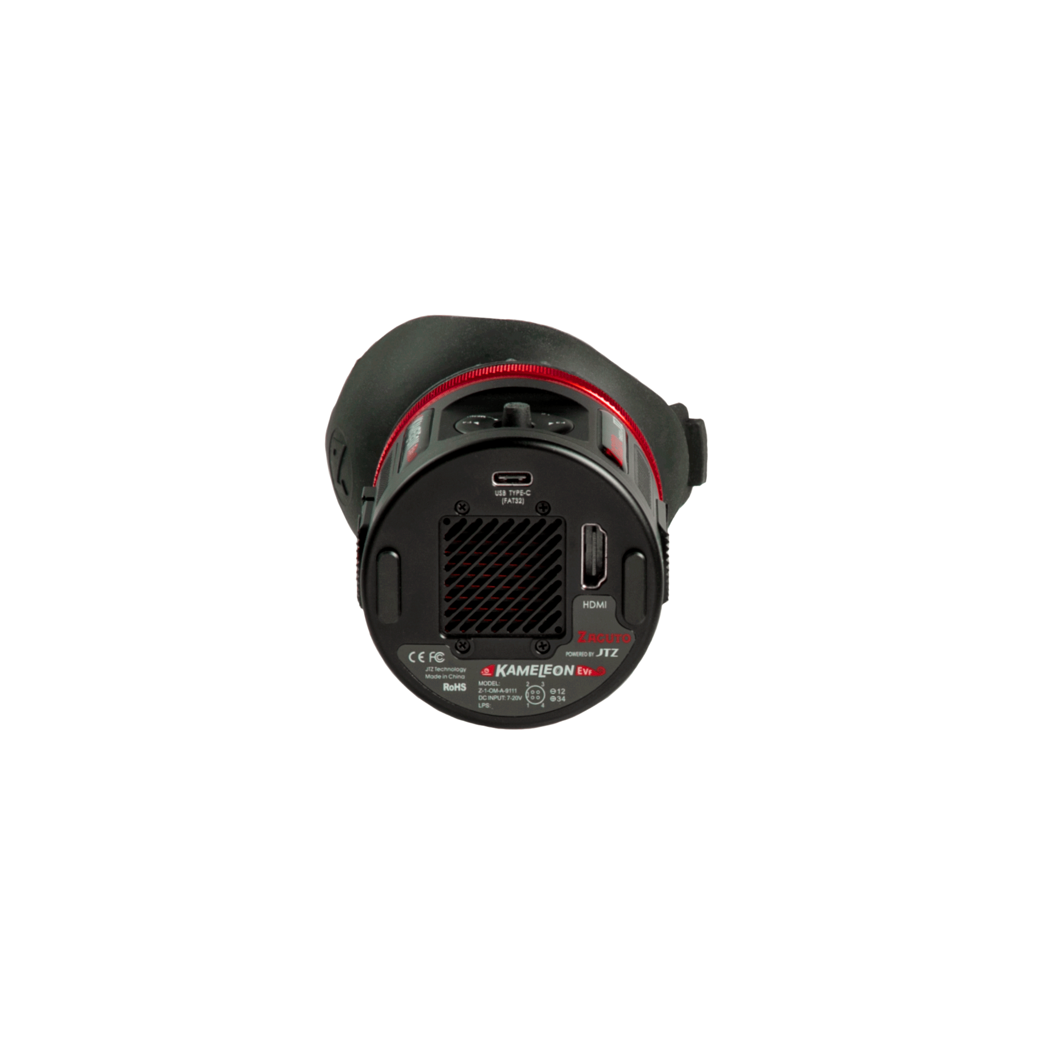 Zacuto Kameleon Pro EVF 2 – Vista trasera