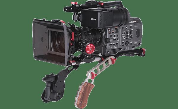 W3 Vocas Base Plate MKII Sony FX9 – Con cámara y handlers copia